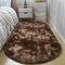 Langes buntes Tie-Dye-Farbverlaufsteppich Wohnzimmer Schlafzimmer Nachttisch Decke Couchtisch Kissen Voller Teppich Bodenmatte - Kaffee