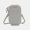 Women Oval Solid 6.3 Inch Phone Crossbody Bag Phone Bag - Light Grey