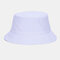Unisex Fashion Casual Jelly Color Solid Poetable Sunscreen Outdoor Sun Hat Bucket Hat - White
