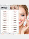 3D Eyebrow Tattoo Sticker Long Lasting Waterproof False Eyebrows Cosmetics - 13 Brown