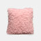 Nordic Wind Solid Color Sofa Pillow Office lumbar Pillow Car Cushion Cover - Pink