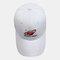 Men & Women Universe Planet Embroidered Baseball Cap Sunscreen Cap - White