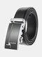 Men Rectangular Alloy Automatic Buckle Casual Business Belt - #01