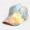 Unisex Tie-dye Cotton Multi-color Gradient Color Sunscreen Visor Sun Hat Baseball Hat - #05