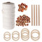 A Set Of Natural Wood Beads Ring Rod Cotton Thread Set Kids DIY Wooden Jewelry Making Crafts Dream Catcher Tassels Accessories - #4