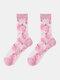 جوارب حريرية حريرية أنيقة بنمط رسوم متحركة فواكه للسيدات - الخوخ الوردي