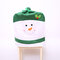 Non-woven Fabric Chair Back Cover Christmas Decorations Chair Cover - Green