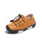 Boys Hollow Out Breathable Non Slip Soft Sole Casual Outdoor Beach Sandals - Brown
