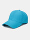 Unisex Quick-dry Solid Color Travel Sunshade Breathable Baseball Hat - Blue