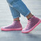 Women Outdoor Reusable Waterproof Slip Resistant Shoes Cover Protect - Pink 2