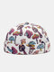 Unisex Mushroom Overlay Pattern Fashion Personality Brimless Beanie Landlord Cap Skull Cap - White