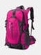 Large Capacity 40L Multi-pockets Anti-scratch Load-bearing Mountaineering Multifunctional Buckle Outdoors Backpack - Pink