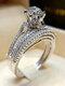 Trendy Geometric Metal Diamond Rings Temperament Rhinestone Rings - #05