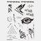 Halloween Face Temporary Tattoo Stickers Waterproof Sweatproof Breathable Art Body Fake Tattoo Transfer Paper - 02