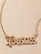 Elegant Letter Inlaid Diamond Women Necklace Twelve Constellation Pendant Necklace Jewelry Gift - Pisces