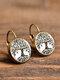 Vintage Glass Dangle Women Earrings Plant Flower Pattern Earrings Jewelry - #16