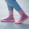 Women Outdoor Reusable Waterproof Slip Resistant Shoes Cover Protect - Pink 1