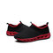 Men Breathable Lightweight  Mesh Sports Shoes  - Red