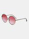 Unisex Metal Full Round Frame Tinted Lens UV Protection Fashion Sunglasses - Pink