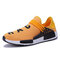 Men Fabric Comfy Breathable Non Slip Casual Sneakers - Yellow