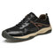 Men Breathable Mesh Lace-up Soft Hard Wearing Non Slip Outdoor Shoes - Black