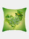 Happy St. Patrick's Day Cushion Cover Clover Leaves Printed Pillowcase For Home Sofa Decoration Festival Ornament Irish Party - #28