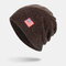Men Wool America Flag WInter Keep Warm Beanie Skull Cap Woolen Knit Cap - Coffee
