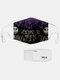 男性と女性7PCSPM2.5フィルターハロウィーンスタイルの印刷使い捨てではない通気性マスク - #03