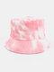 Women & Men Corduroy Multicolor Tie Dye Casual Soft Outdoor All-match Bucket Hat - #03