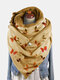 Women Dacron Colorful Butterfly Pattern Print With Buckle Casual Thicken Warmth Shawl Scarf - Yellow