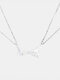 1 Pair Simple Hand Pull Hook Commitment Pendant Couple Necklace Valentine's Day Gift - Silver Chain White Pendant+Silve
