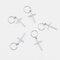 5個/パックパーソナリティカジュアルヘアクリップ小さな三つ編みDIYの葉スターシェル女性ヘアアクセサリー - 02