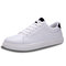 Men Breathable PU Lace-up Hard Wearing Casual Sneakers - Black