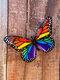 1 pieza de acrílico forjado mariposa hogar hardware para colgar en la pared artesanías Colgante decoración regalo hecho a mano para interior al aire libre decoración - Multicolor