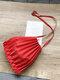 女性用キャンバスフォールドプリーツパッチワークショルダーバッグクロスボディバッグ - 赤