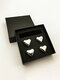 1/4/6PCS Set Stainless Steal Whisky Stones Ice Cubes Heart Shaped Reusable Whisky Beer Wine Cooler Bar Ice Cube Quick-frozen Drinks - 4PCS Silver+Velvet Box
