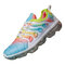 Women Large Size Multi-color Lace Up Front Cushioned Sneakers - Multi Color