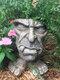 1 pieza divertida expresión Muggly's The Face estatua jardinera jardín hilo escultura decoración flor planta maceta - #03