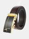 Men Rectangular Alloy Automatic Buckle Casual Business Belt - #04