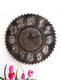 Retro Industrial Wind Wooden Gear Saw Blade Clock Home Bar Wall Sticker Wall Clock Gear Ornament Cl200 - #01