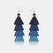 Bohemian Handmade Multi-layer Tassel Earrings Irregular Gradient Tassel Long Earrings - 5