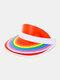 Unisex Dacron Transparente Regenbogenfarbe Außen UV Schutz Regenbogen Leere Oberseite Hut Baseballkappe - #04