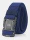 125CM Men Nylon Belt Metal Magnetic Buckle Quickly Unlock Tactical Casual Belt - Royal Blue