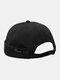 Unisex Cotton Smile Face Pattern Retro Casual Brimless Beanie Landlord Hat Skull Hat - Black