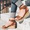 Women Slip Resistant Buckle Strsap Casual Platform Wedges Sandals - Brown