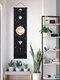 نسيج بوهيمي مرحلة القمر نمط الفن ديكور المنزل غرفة المعيشة غرفة نوم الديكور - أسود
