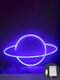LED Planet Pattern Neon Light Dual-use Battery USB Charging Home Room Decor Night Light For Club Bedroom Living Room Party Garden - #01