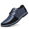 Men Genuine Leather Non-slip Splicing Large Size Soft Sole Casual Driving Shoes