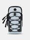 Nylon Outdoor Reflective String Earphone Hole Design Absorb Sweat Quick Dry Sports Arm Bag Wrist Bag - #03