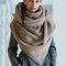 Женское Повседневная универсальная толстая теплая шаль с шарфом с пряжкой и принтом - Хаки
